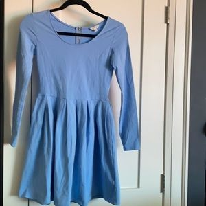 Aritzia Talula Blue 3/4 Sleeve Dress